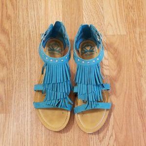 Teal Sandals